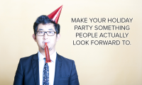 Man in suit with party hat