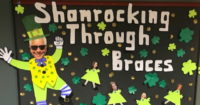 Schur Orthodnontics' St. Patrick's Day board
