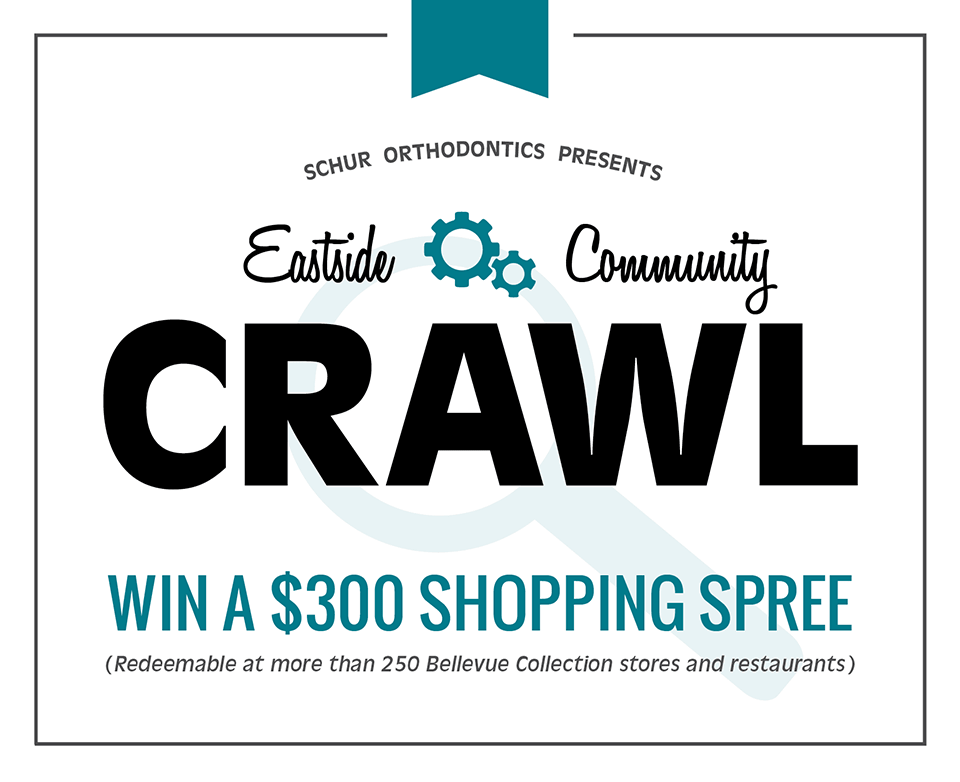 Win a $300 Shopping Spree from our Eastside Community Crawl promotion