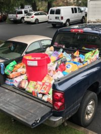 Delivery day for Schur Orthodontics Pet Food Drive
