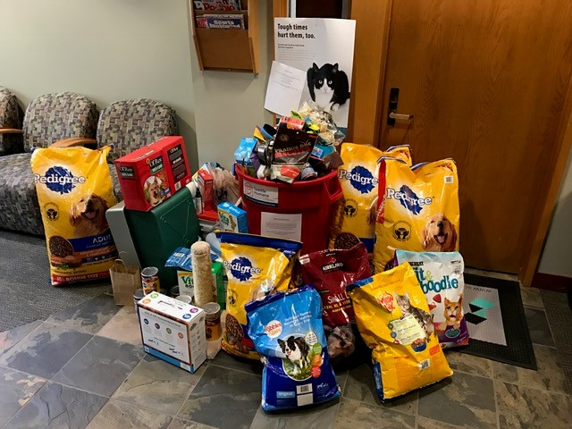 The Seattle Humane Society's pet drive donations