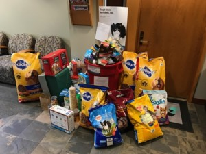 Pet food drive supporting the Seattle Humane Society