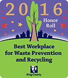 2016 Honor Roll Best Workplace for Waste Prevention and Recycling Badge