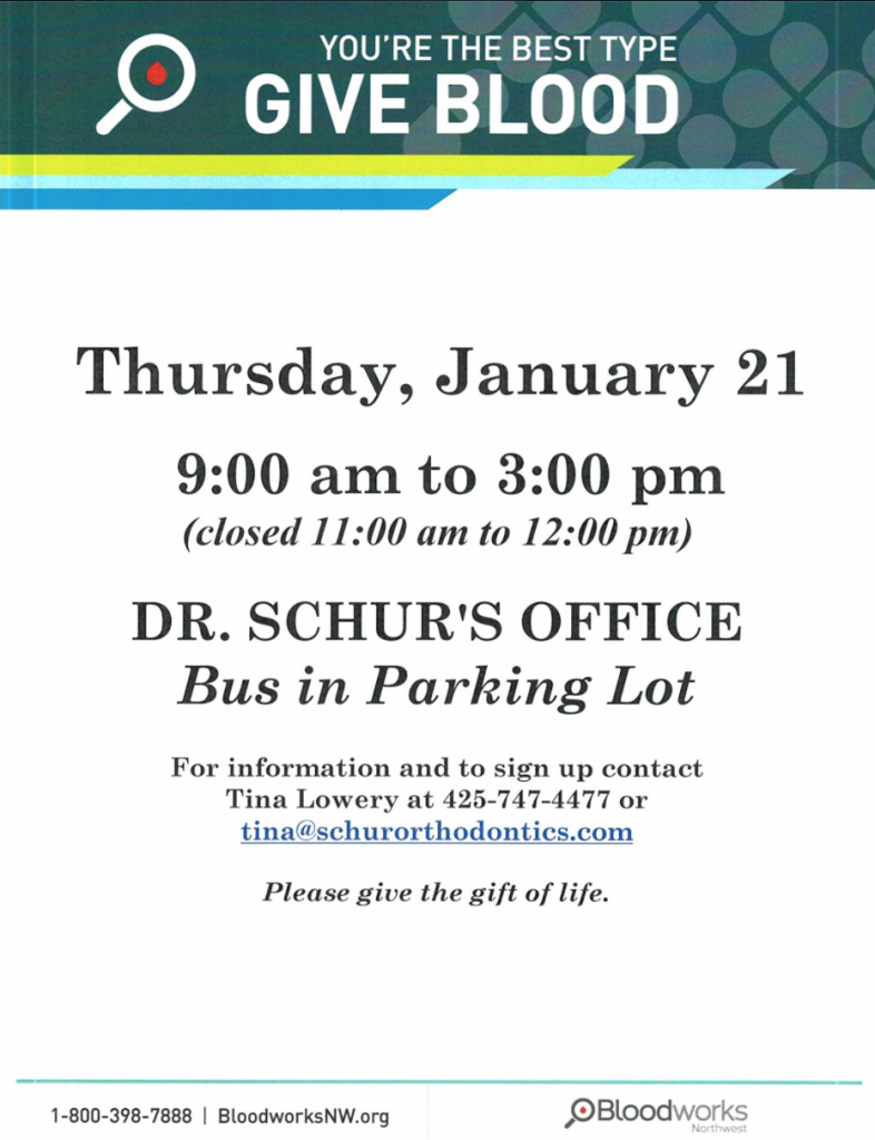Schur orthodontics hosts blood drive