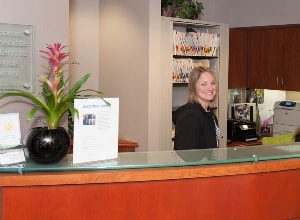 The front desk at our Bellevue Orthodontic practice.