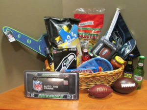 Fun Seahawks viewing party basket you might win!